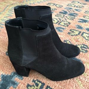 Zara Black Suede Boots